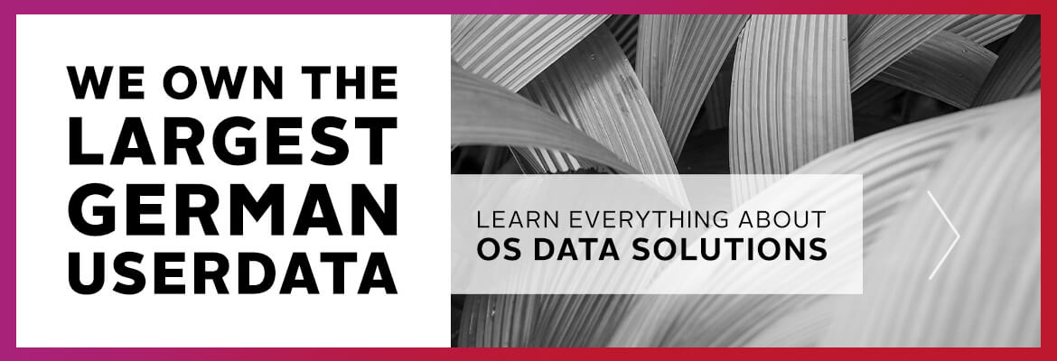 We own the largest german userdata, learn everything about OS Data Solutions